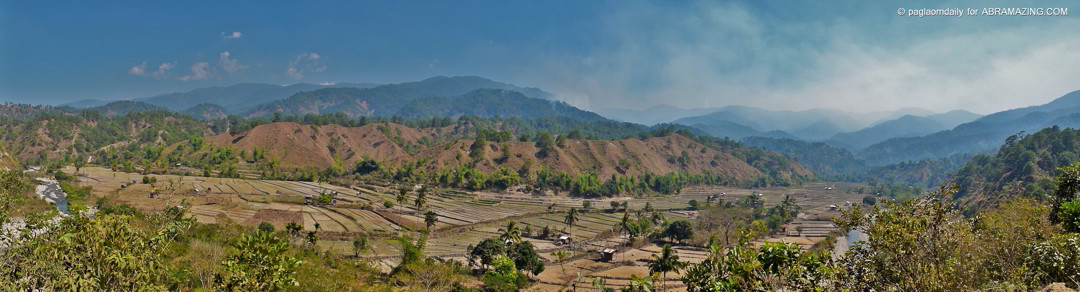 Overlooking the Rice Fields of Bangilo District, Malibcong, Abra