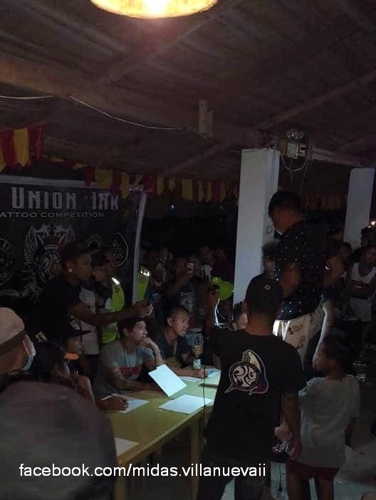 Dos as a judge at the Ink Tattoo competition in La Union