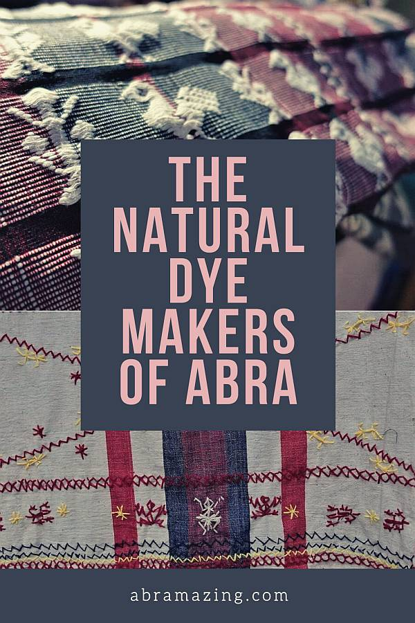 Natural dye makers of abra . abra in colours