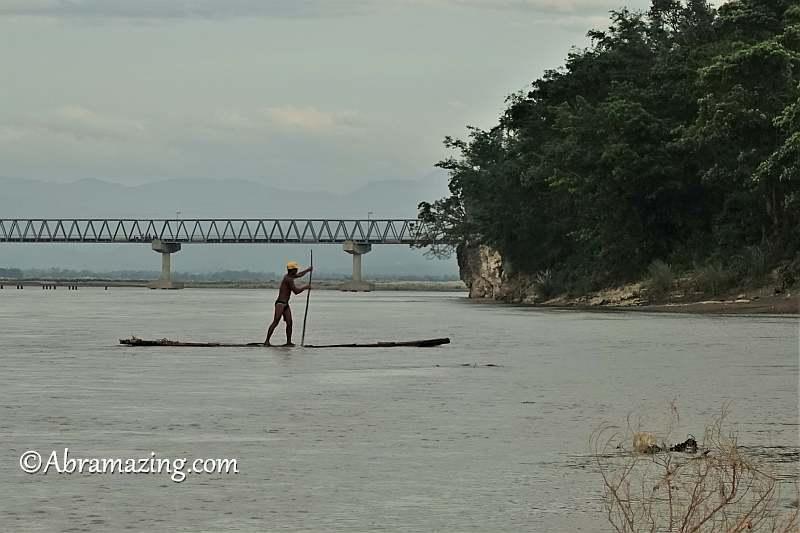 Boatman near Maria of Calaba Rock, Abra, Philippines